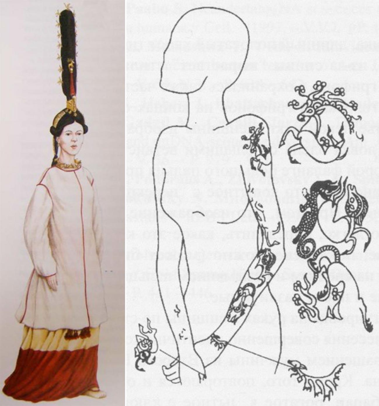 I tatuaggi rinvenuti sul corpo della ragazza