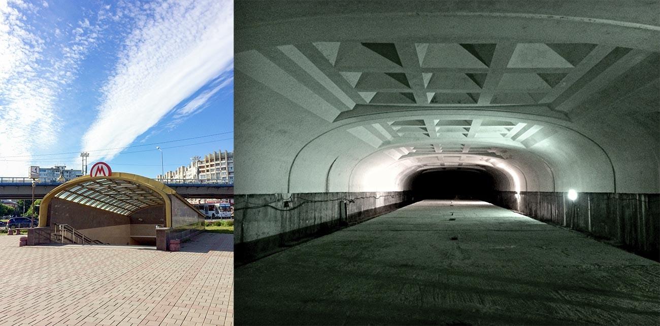 オムスク地下鉄の仮設の駅の状態