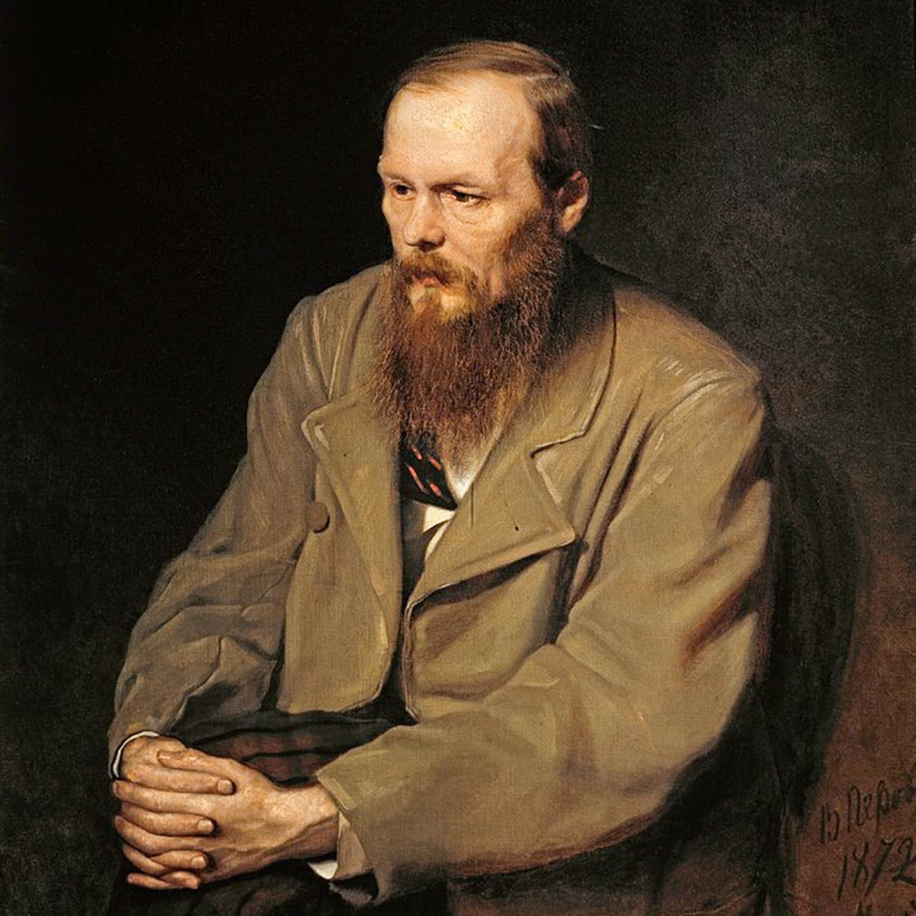 Ein Porträt von Fjodor Dostojewski.