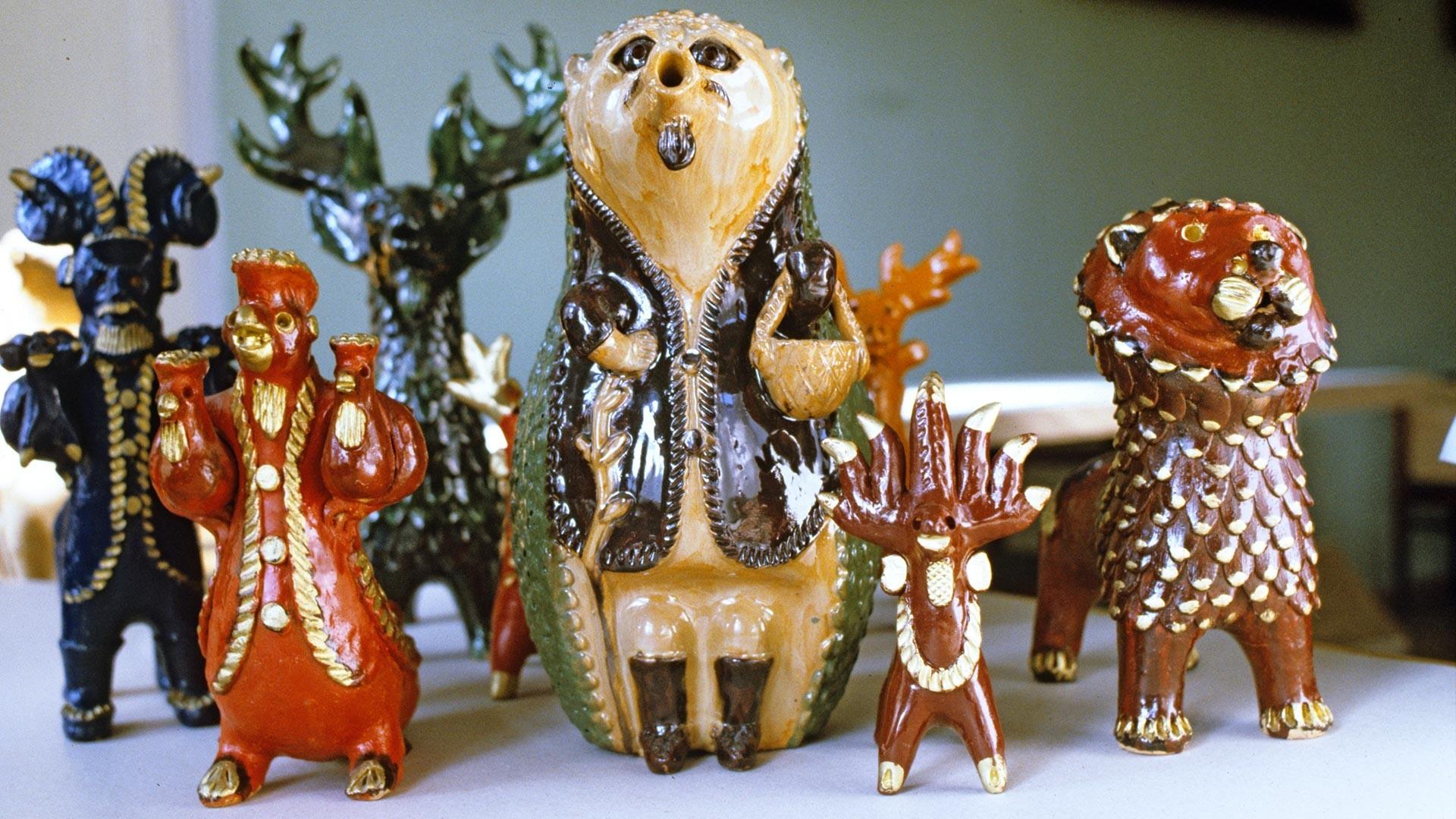 Glinene igrače iz Abaševa.