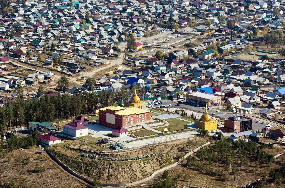 Vue sur le temple Rinpoché Bagcha