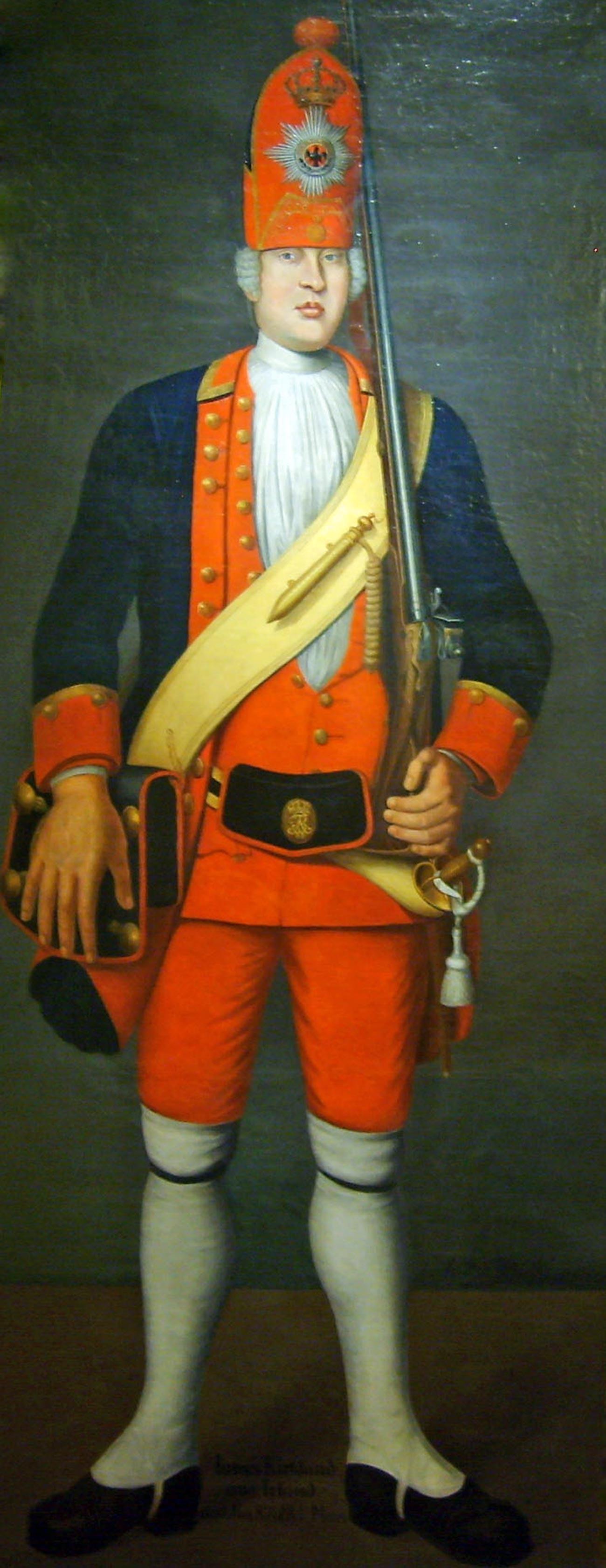 Potret tentara 'Raksasa Postdam' James Kirkland asal Irlandia, karya Johann Christof Merck.