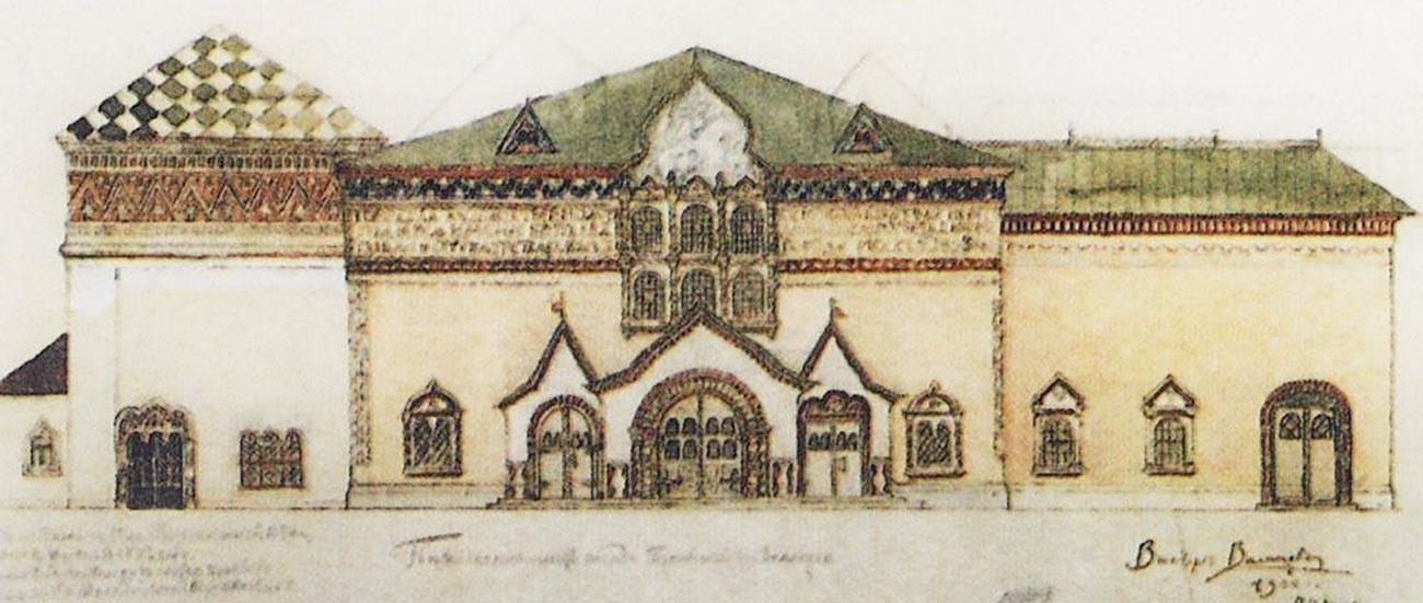Проект за фасада на Третяковската галерия