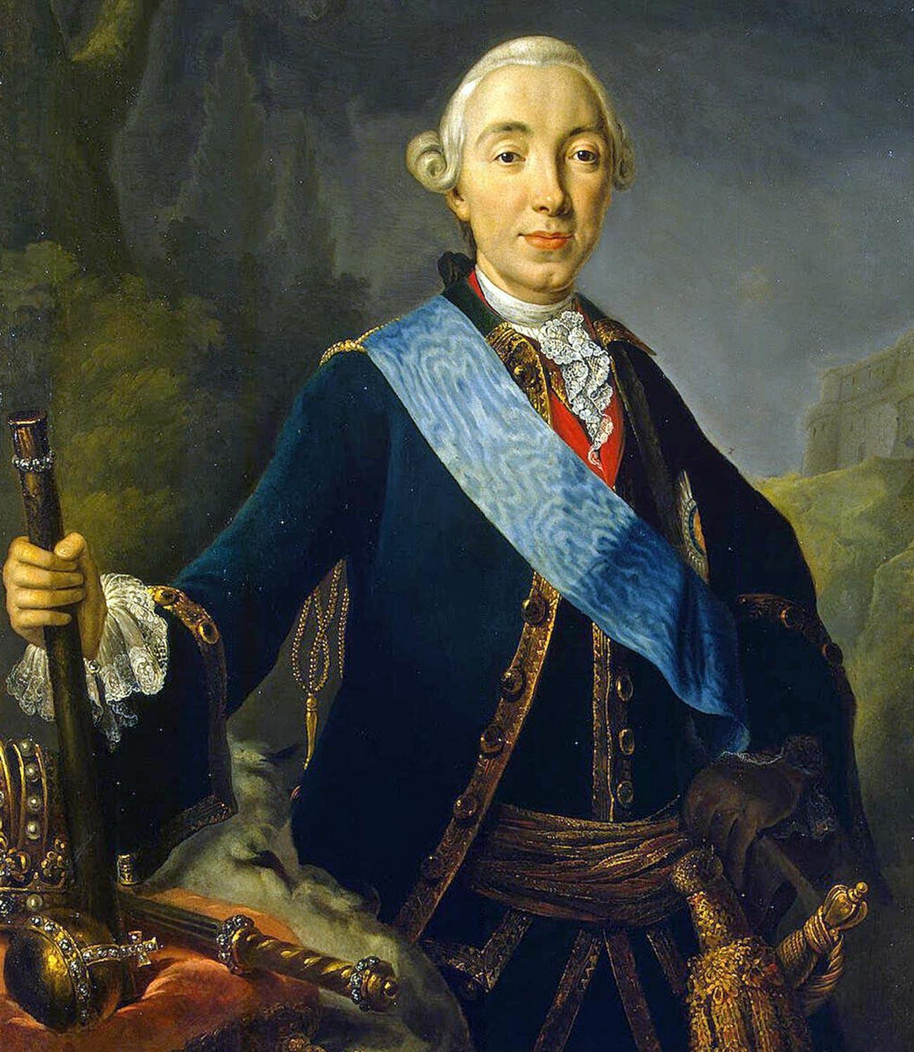 Krönungsporträt von Kaiser Peter III. Fedorowitsch.