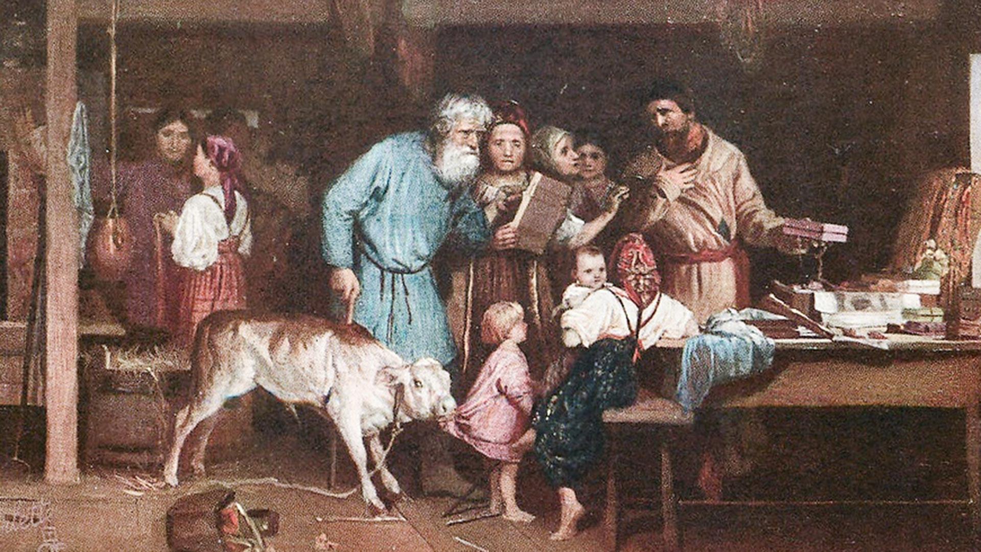 """""""Ofênia"""" em pintura de Nikolai Kochelev."""