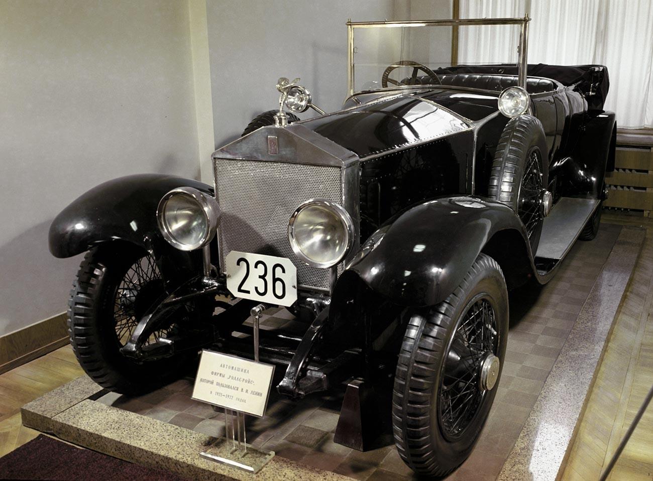 El Rolls-Royce utilizado por Vladímir Lenin en 1921-1922.
