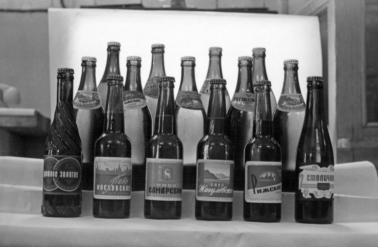 Many kinds of Zhiguli beer.