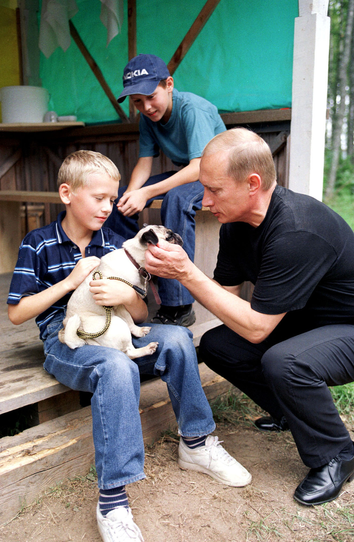 Wladimir Putin im Urlaub.