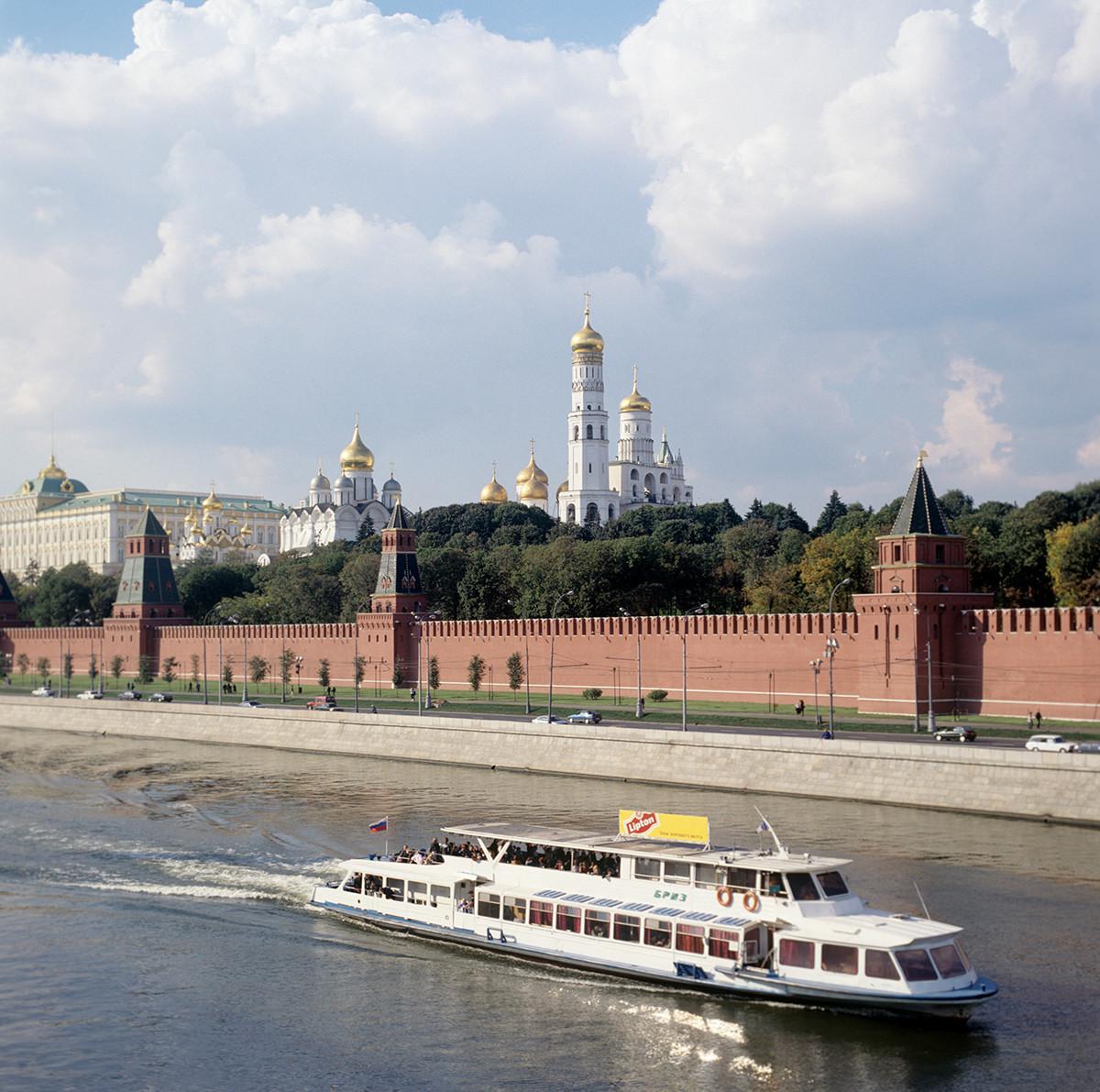Ein Blick auf die Moskwa und den Kreml.