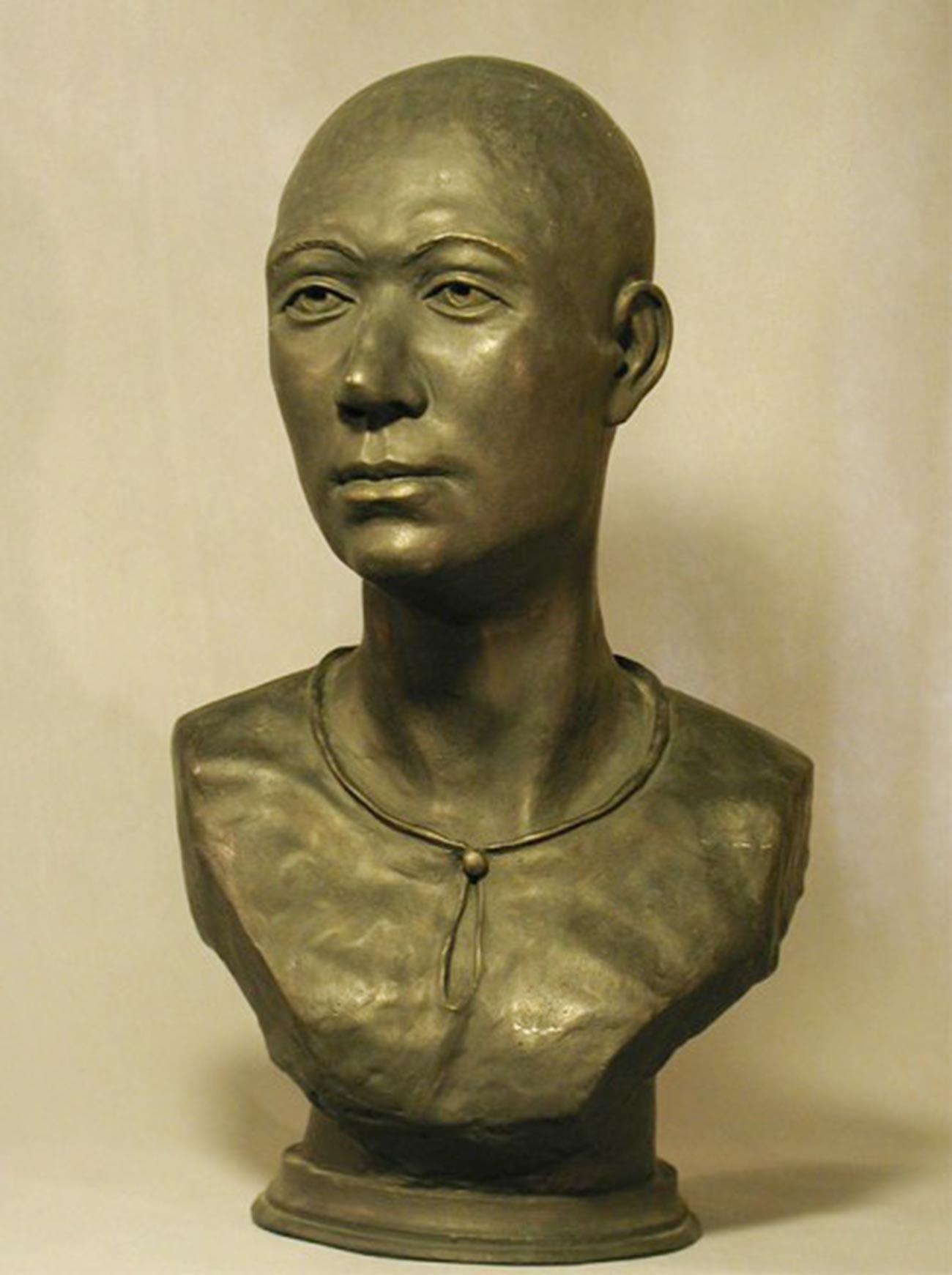 Rekonstruksi wajah Gadis Es Siberia.