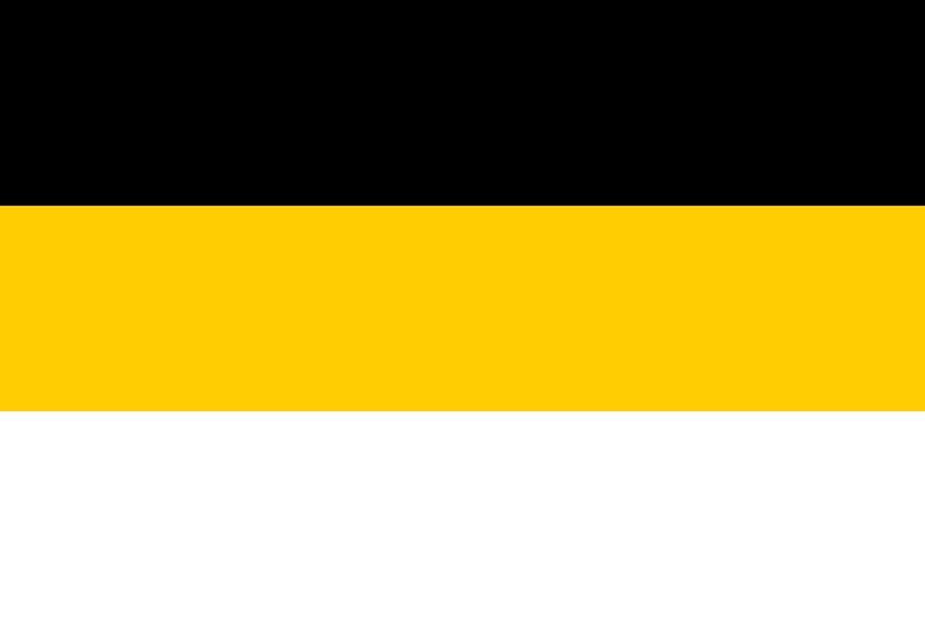 La bandera nacional del Imperio ruso utilizada en 1858-1883.