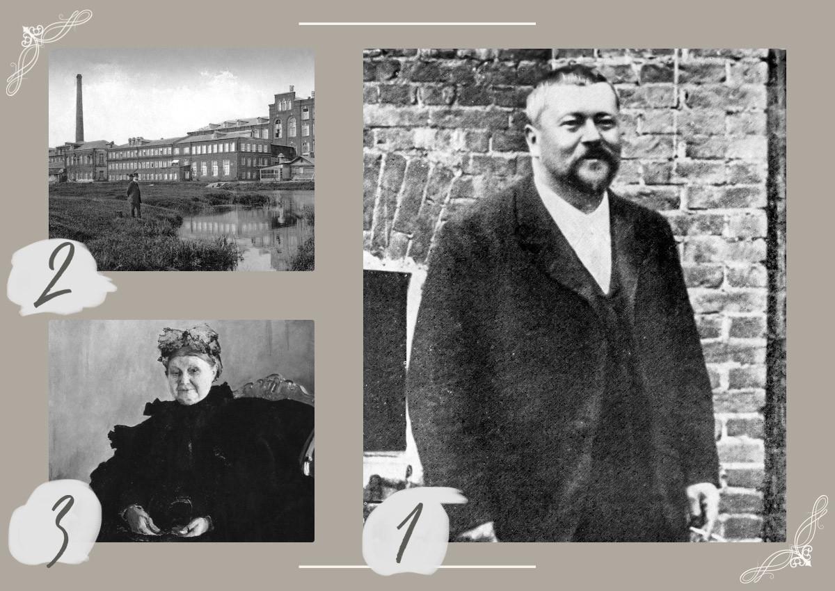1 - Сава Морозов, 2 - Богородско-Глуховска мануфактура, 3 - (мајка) Марија Фјодоровна Морозова. Рад сликара В. А. Серова. 1897.