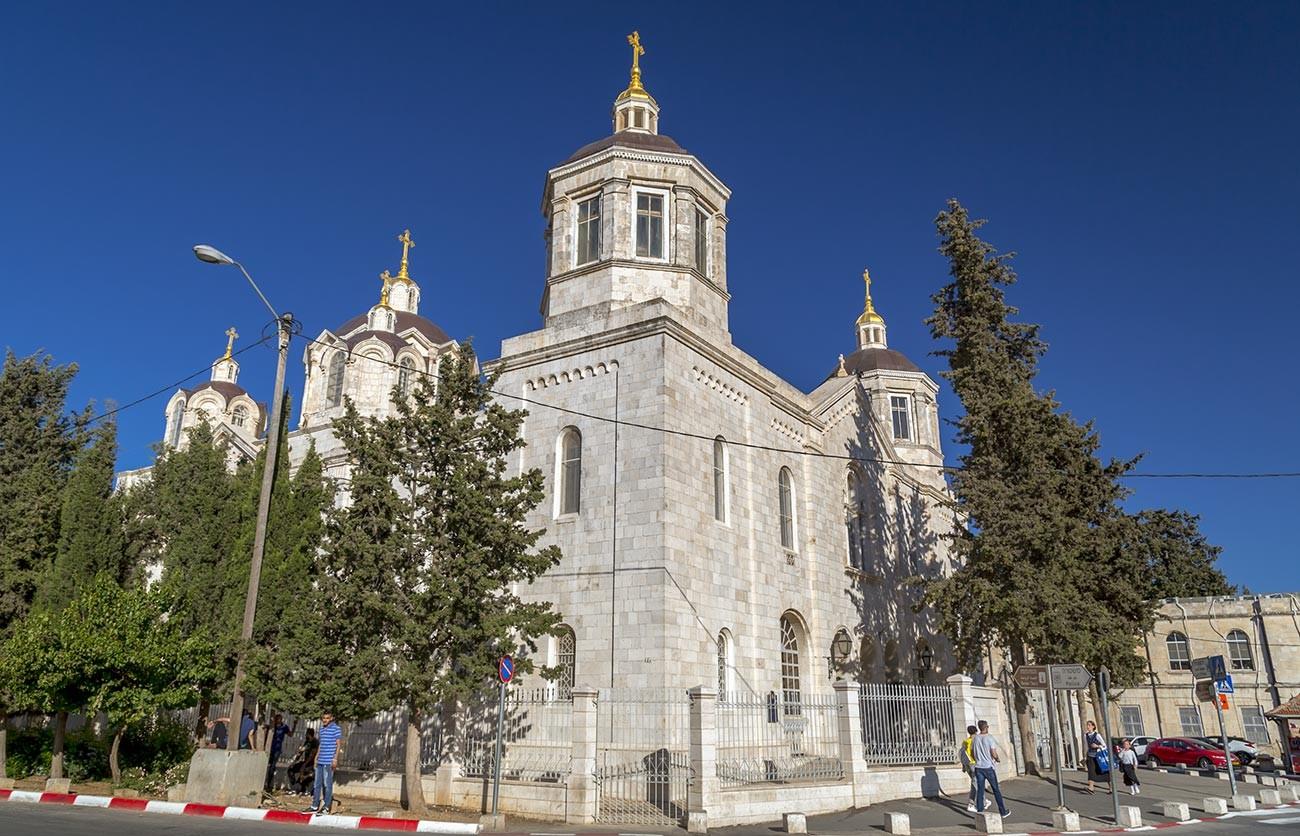 Der russische Komplex von Jerusalem.