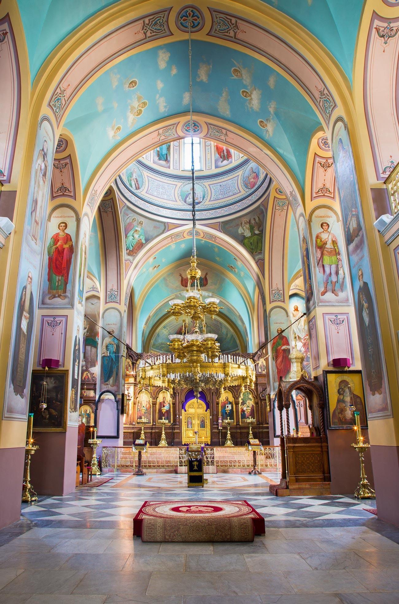 In der Kirche der Heiligen Dreifaltigkeit.