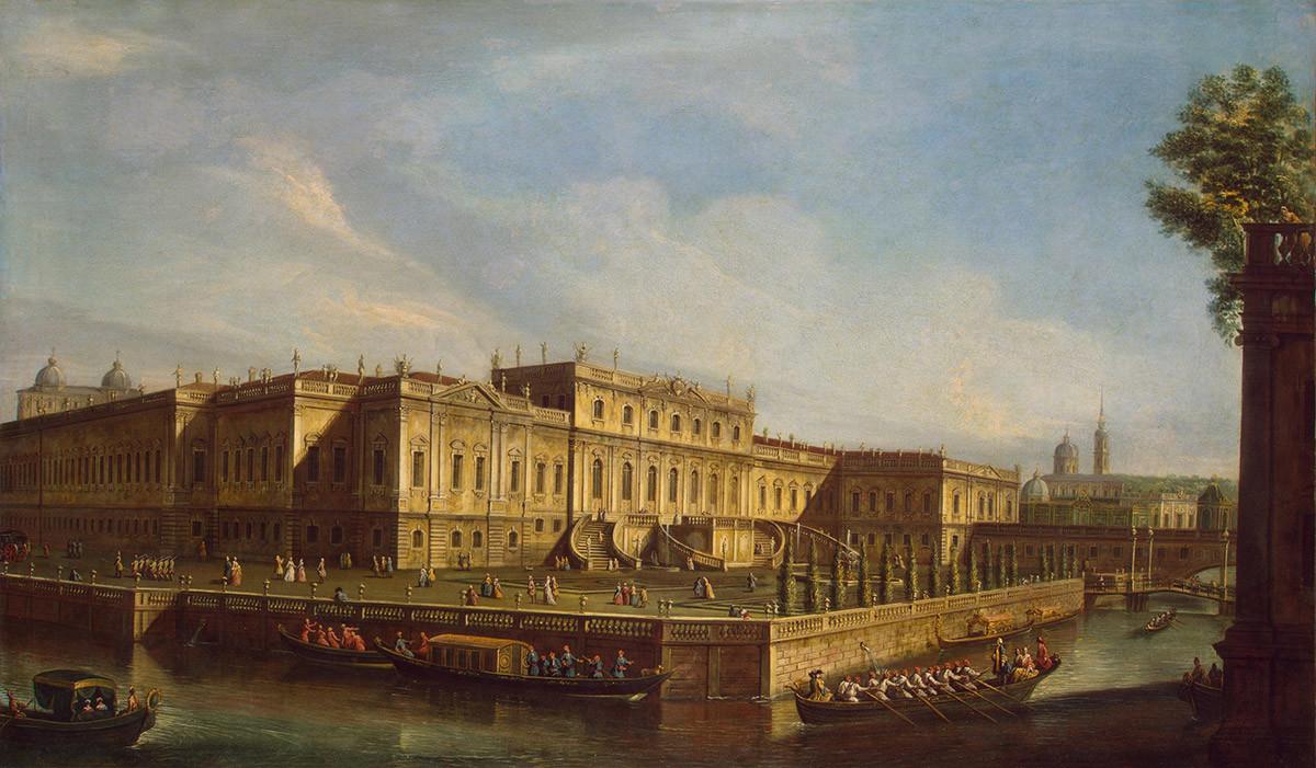 Neznani italijanski umetnik (?) (Po gravuri A. A. Grekova risbe M. I. Mahajeva) Poletna palača cesarice Elizabete Petrovne