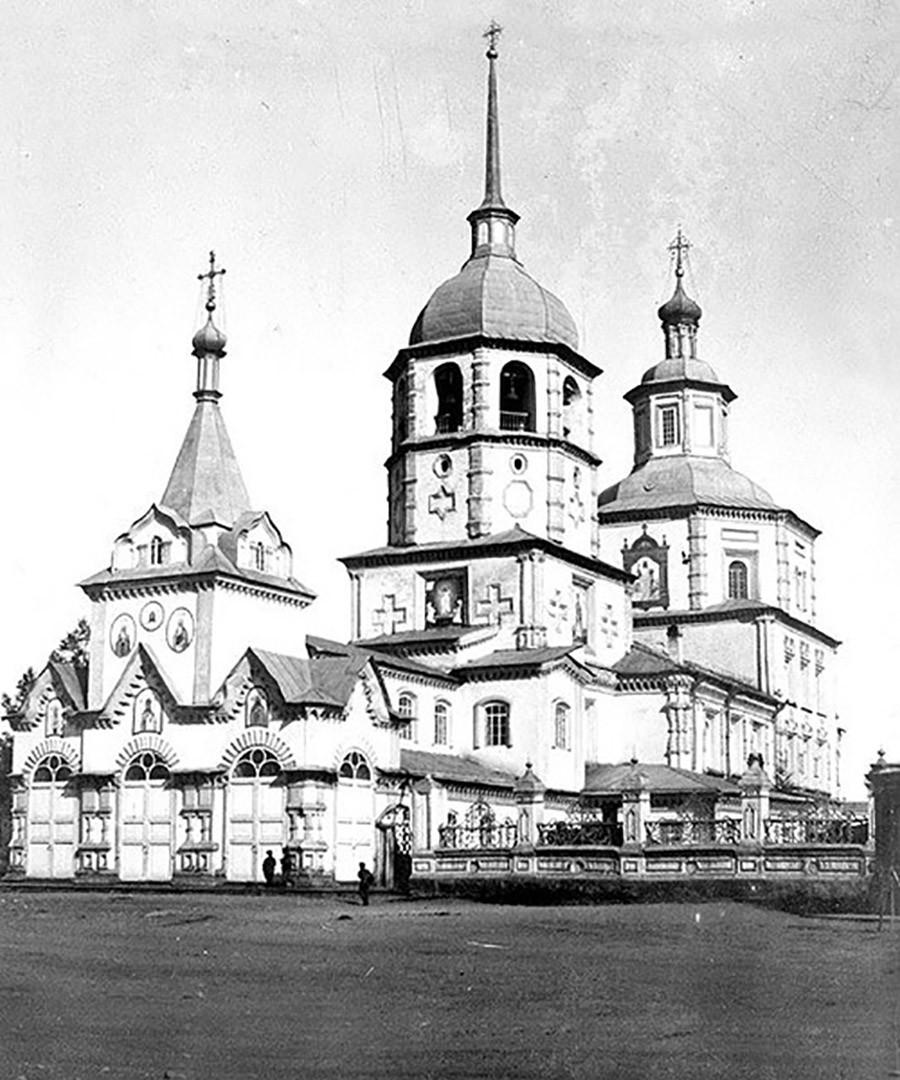 Irkutsk. Tihvinska cerkev je bila zgrajena v letih 1754-1759.