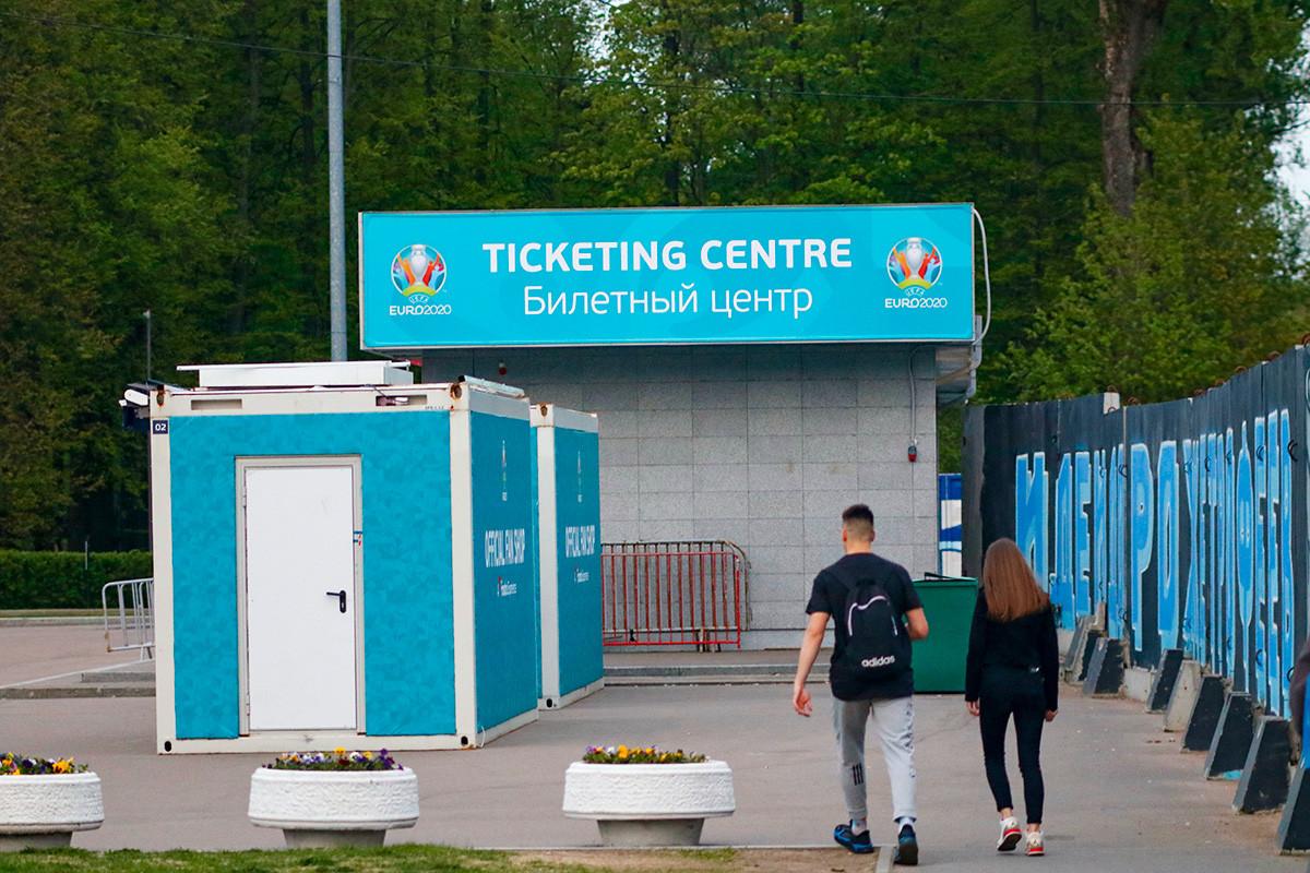 Sankt Peterburg bersiap menggelar Piala Eropa 2020.