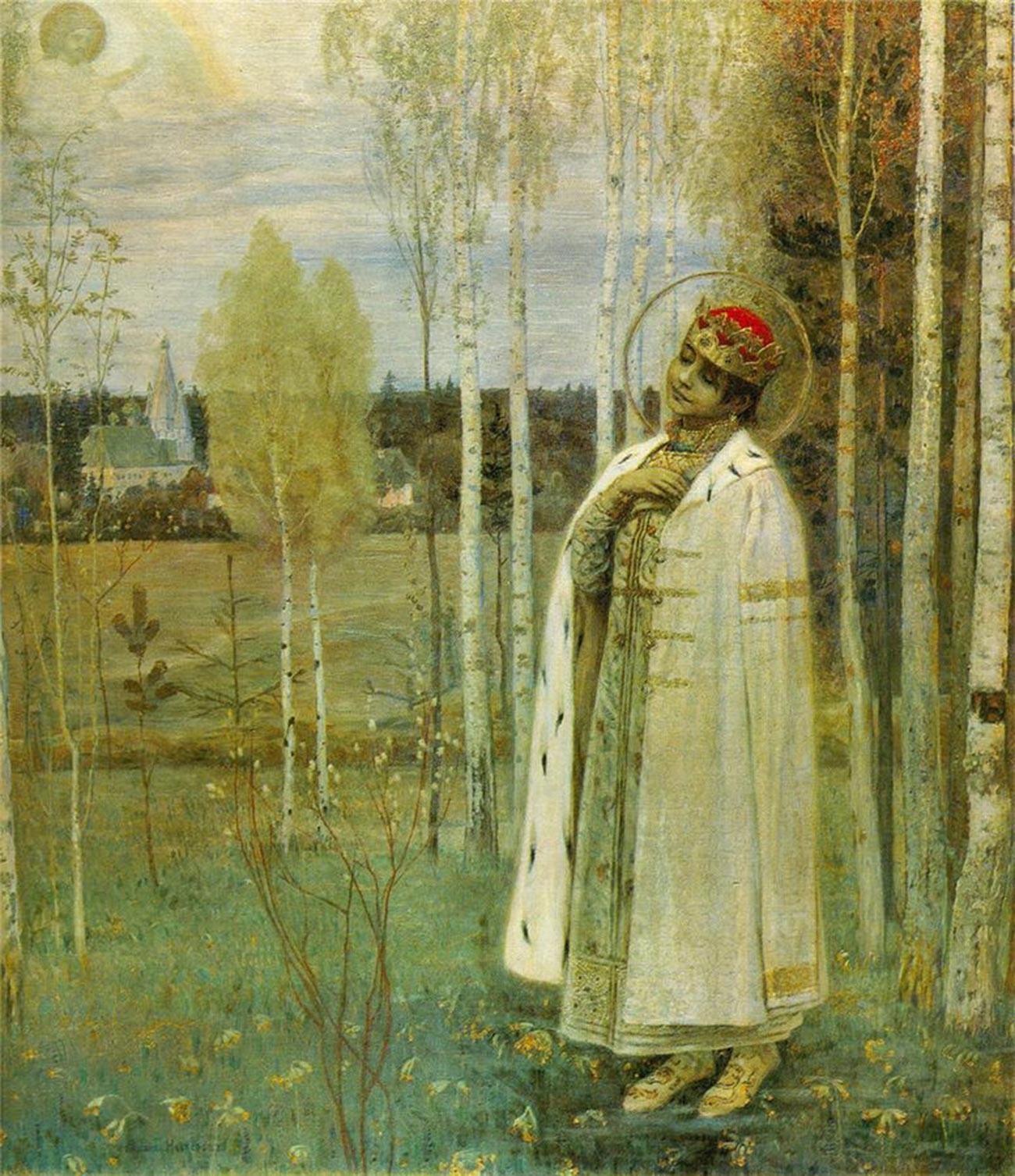 'Tsarevich Dmitry', oleh Mikhail Nesterov.