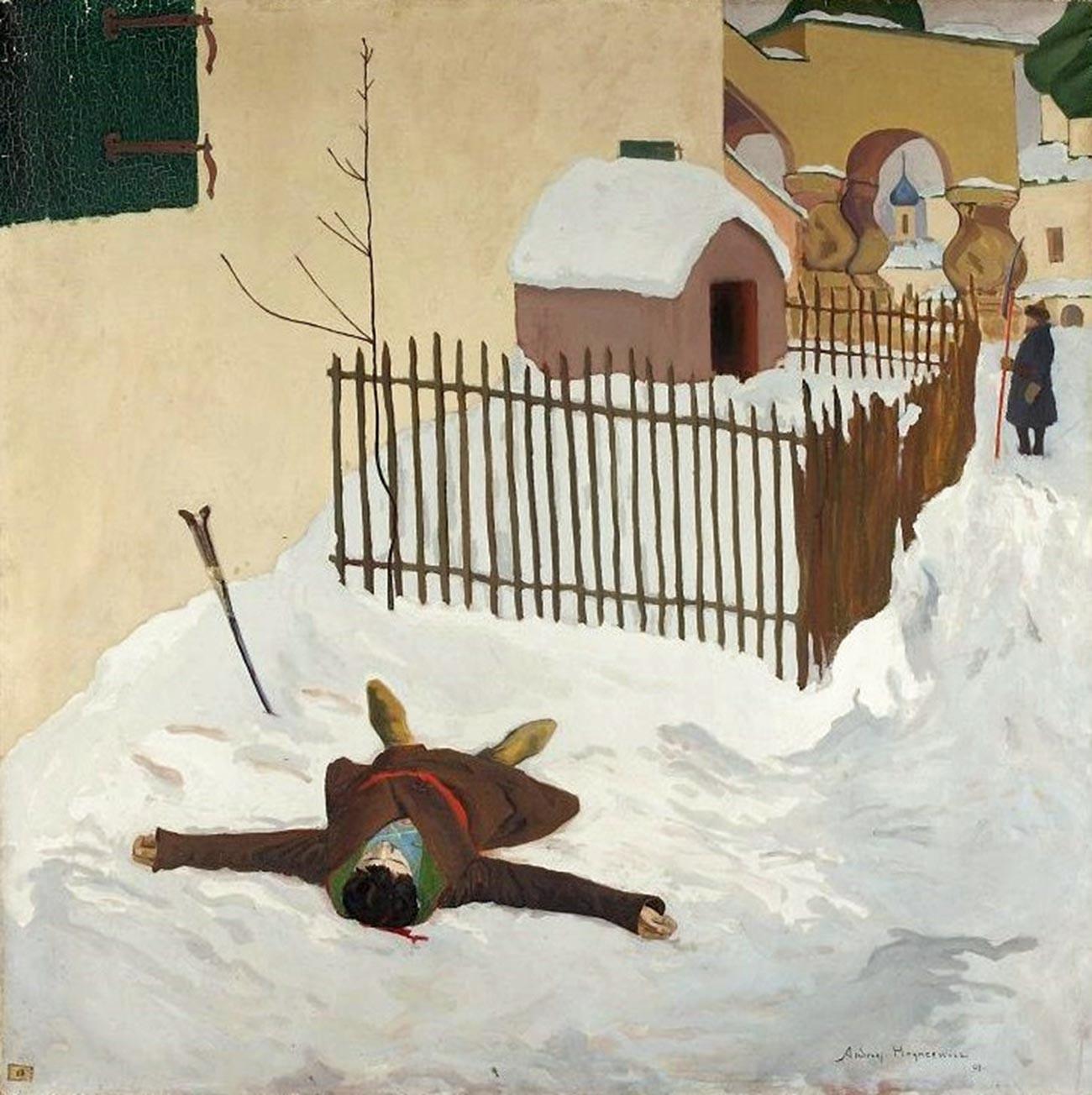'Kematian Dmitry', oleh Andzhey Khryntsevich, 1909.