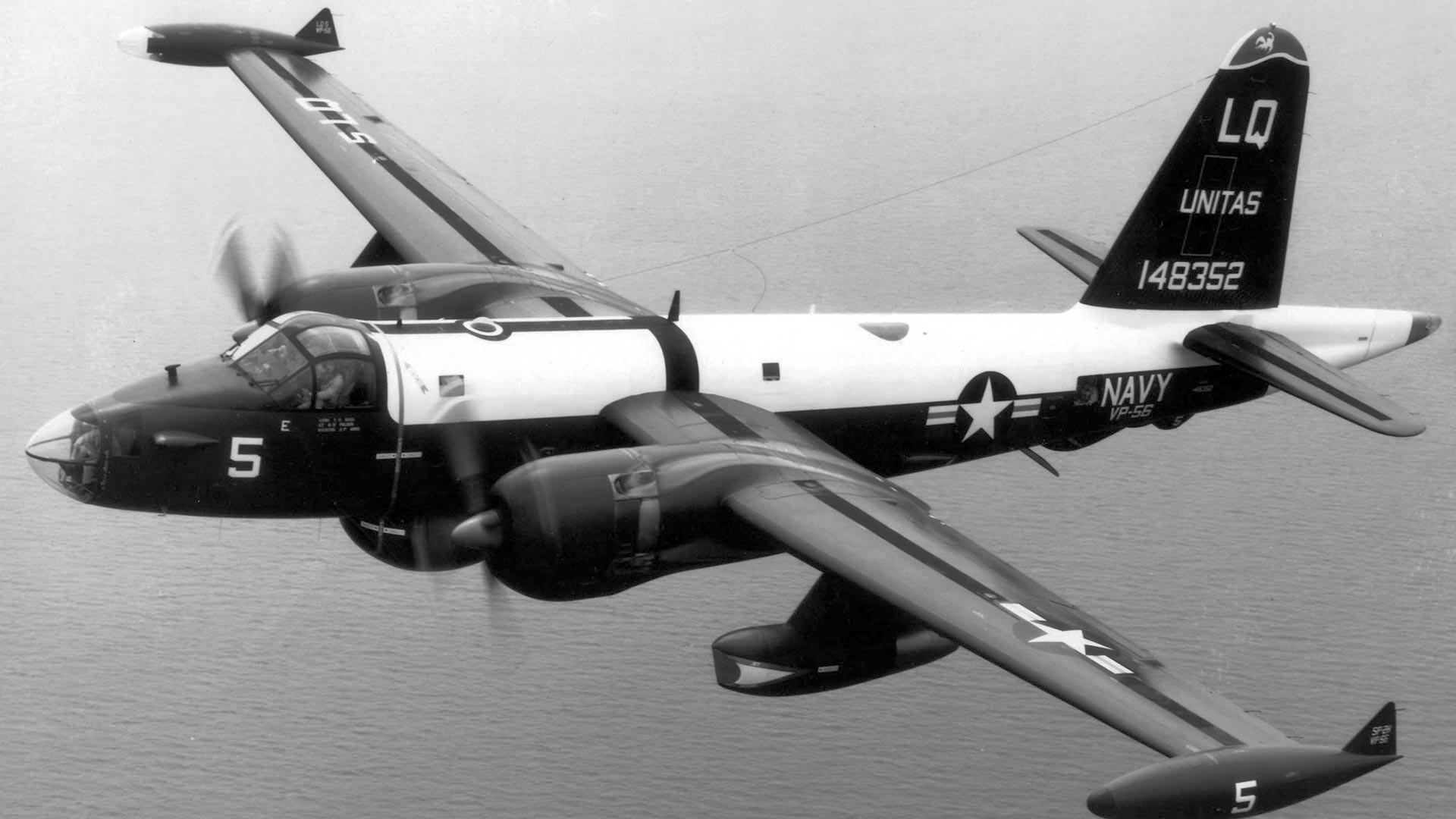 Avión de reconocimiento Lockheed P-2 Neptune.