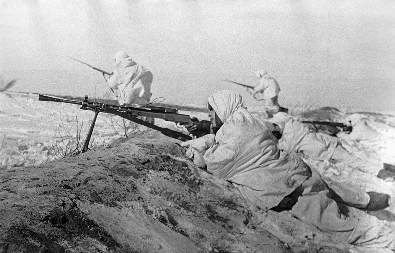 Fanteria sovietica durante la battaglia di Mosca
