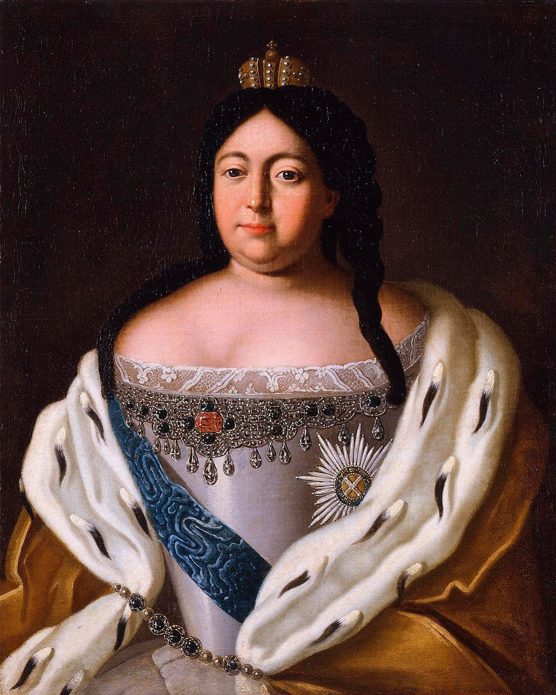 Potret Anna Ivanovna oleh seorang pelukis anonim (1670-an—1917)