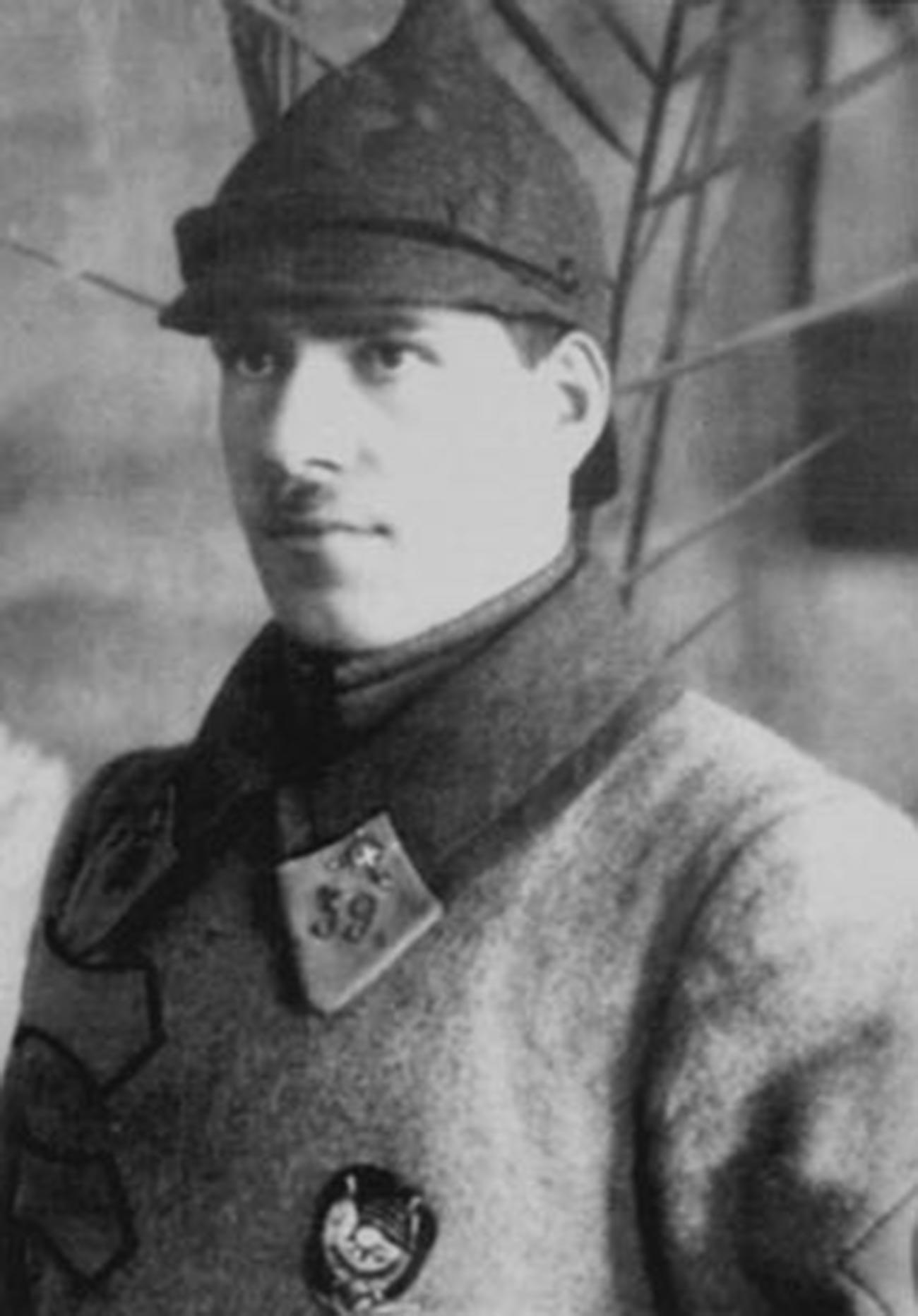 Comandante del 39º regimiento de caballería de Buzuluk G. Zhúkov, 1923.