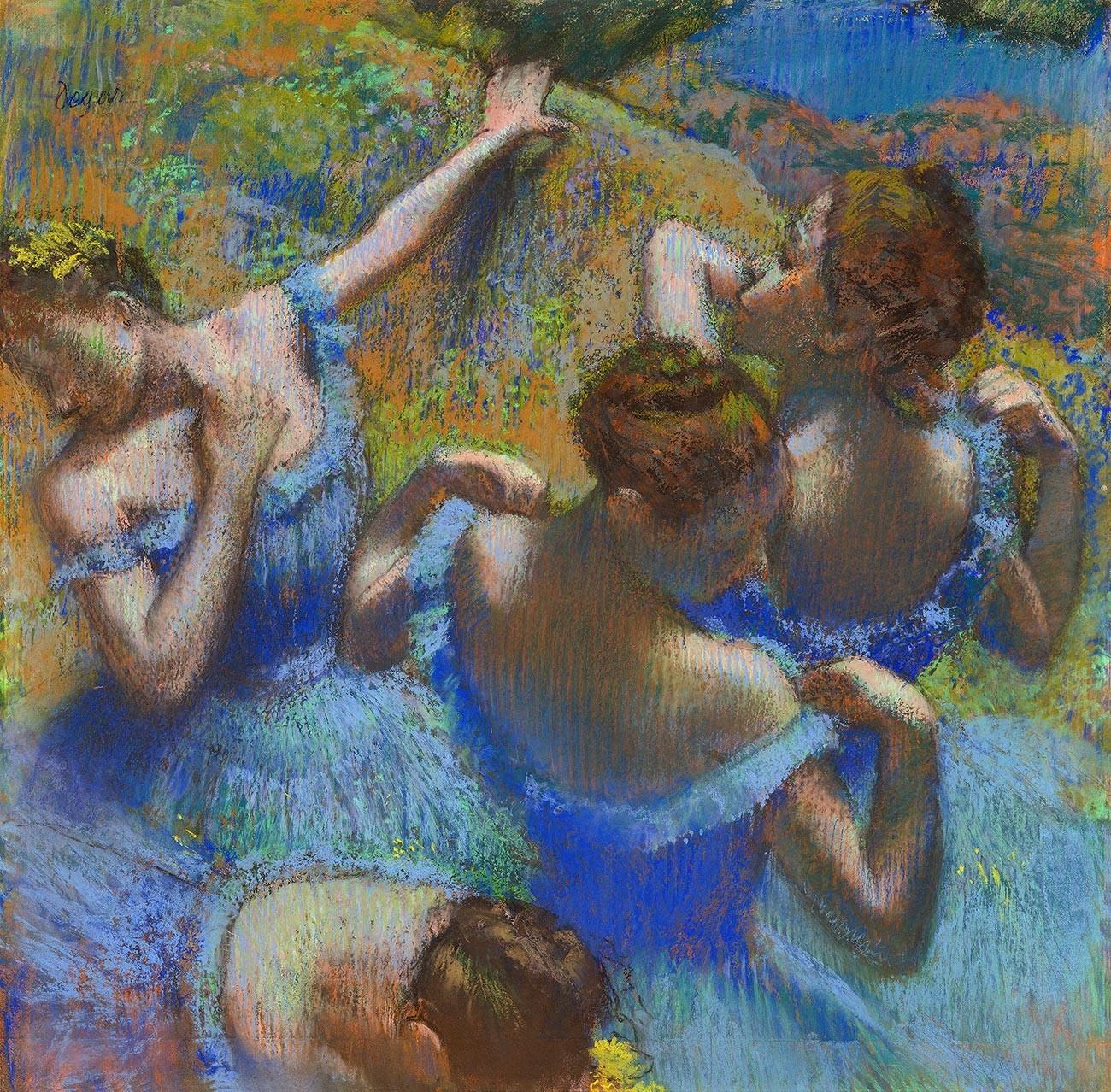 Edgar Degas. Tänzerinnen in blau, 1897.