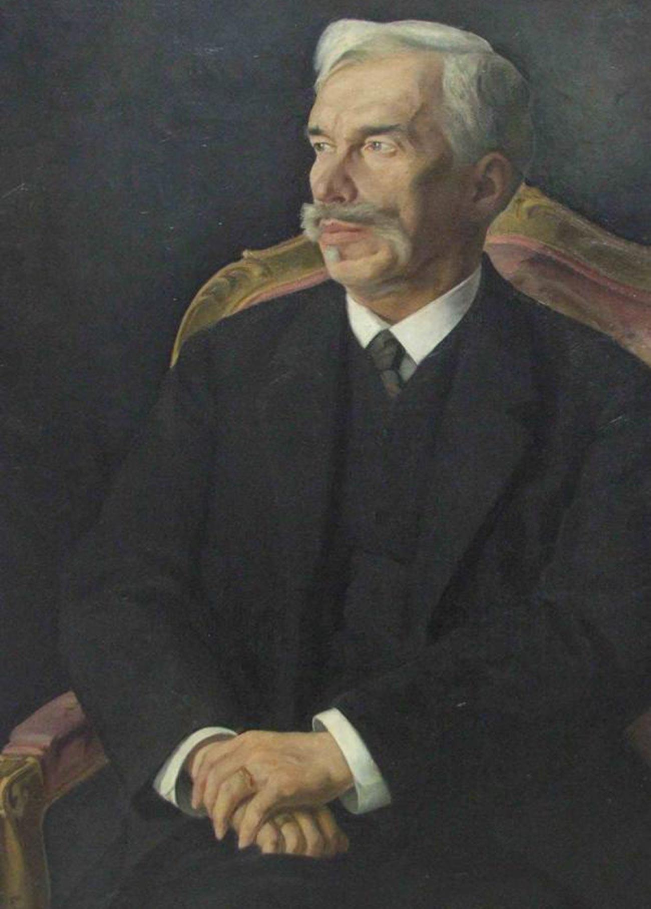 Dmitri Melnikow. Porträt von Sergei Schtschukin.