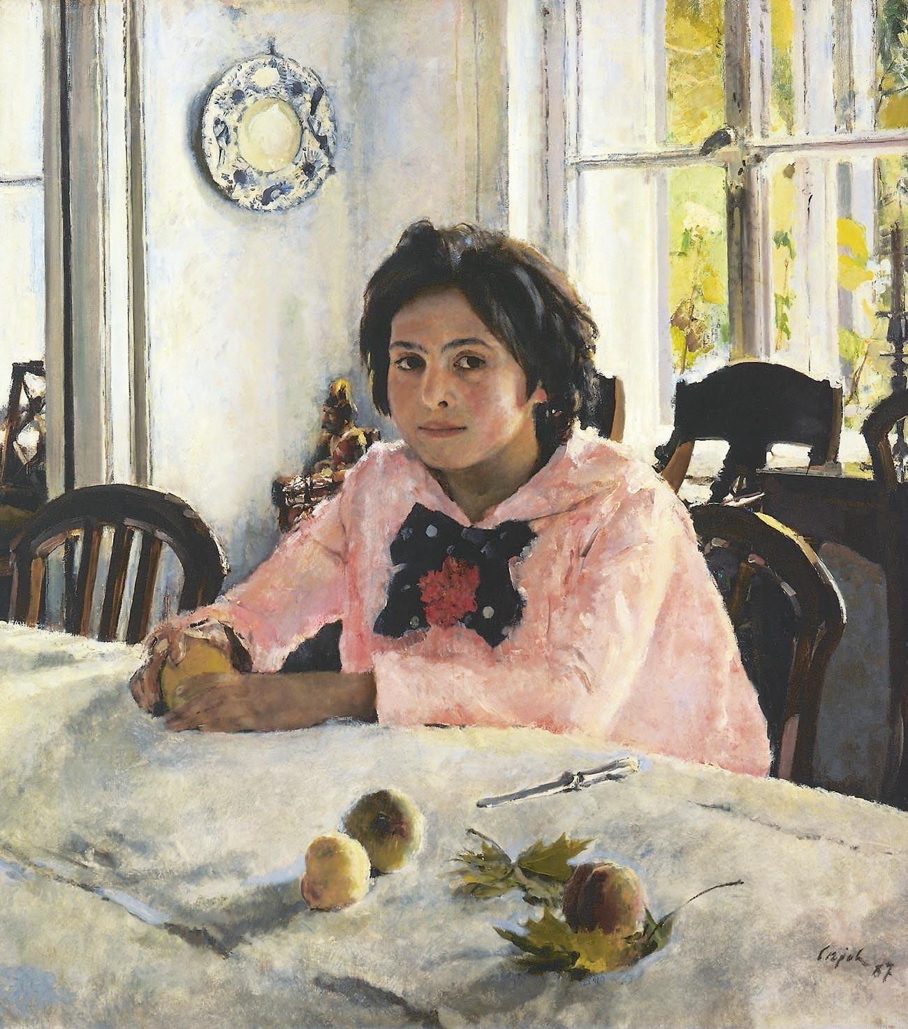Walentin Serow. Mädchen mit Pfirsichen, 1887.