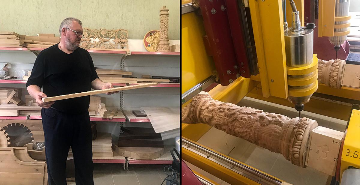 Анатолий в мастерской