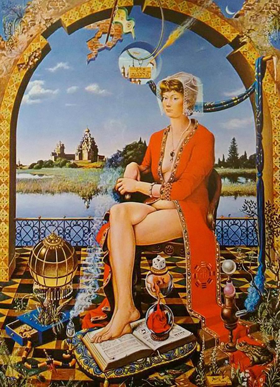 Pitonisa, óleo sobre tela de Octávio Araújo. 1975