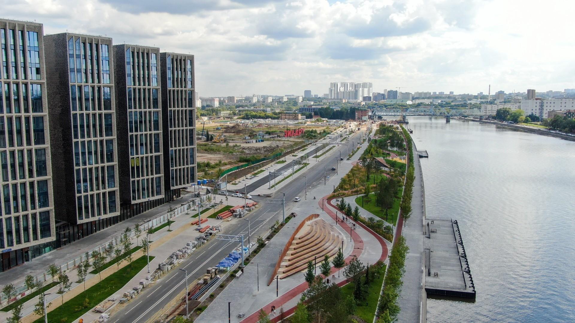 Area permukiman baru di Moskow yang terletak tak jauh dari pusat kota.