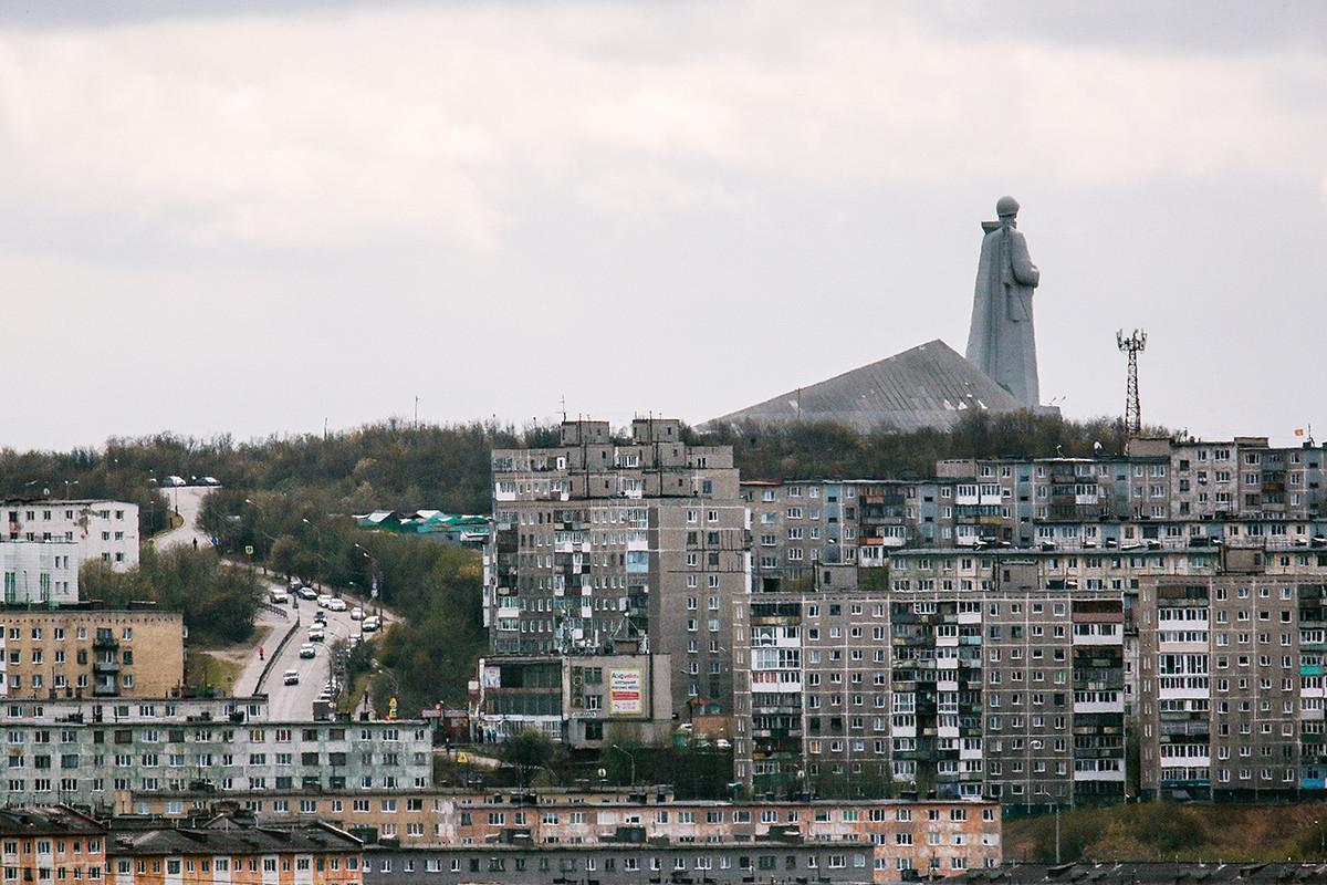 Sebuah distrik di Murmansk.