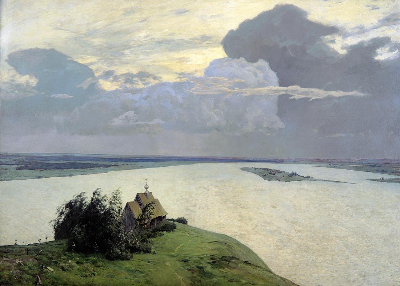 Sobre la Paz Eterna, uno de los paisajes más rusos.