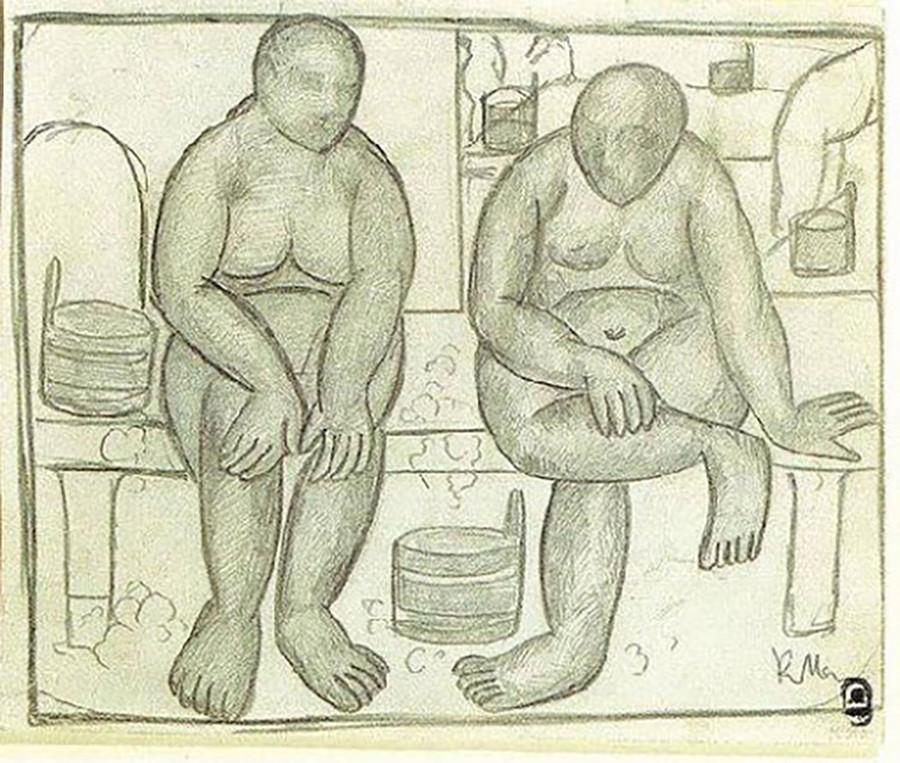 Kasimir Malevitch. Au bania, 1910-1911