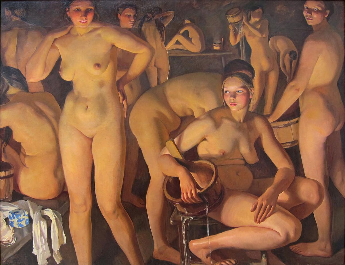 Zinaïda Serebriakova. Le Bain, 1913