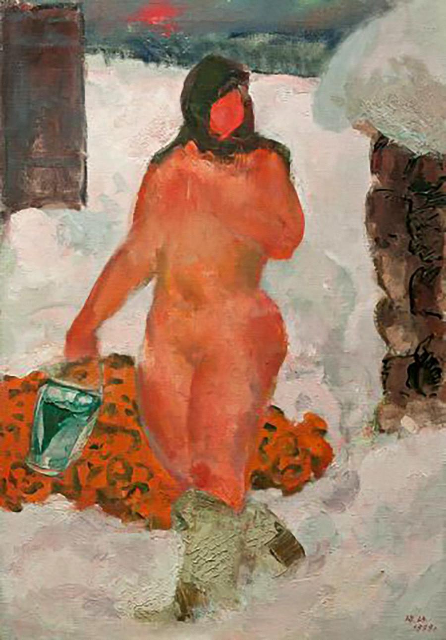 Iouri Penouchkine. Sortie du bania, 1975