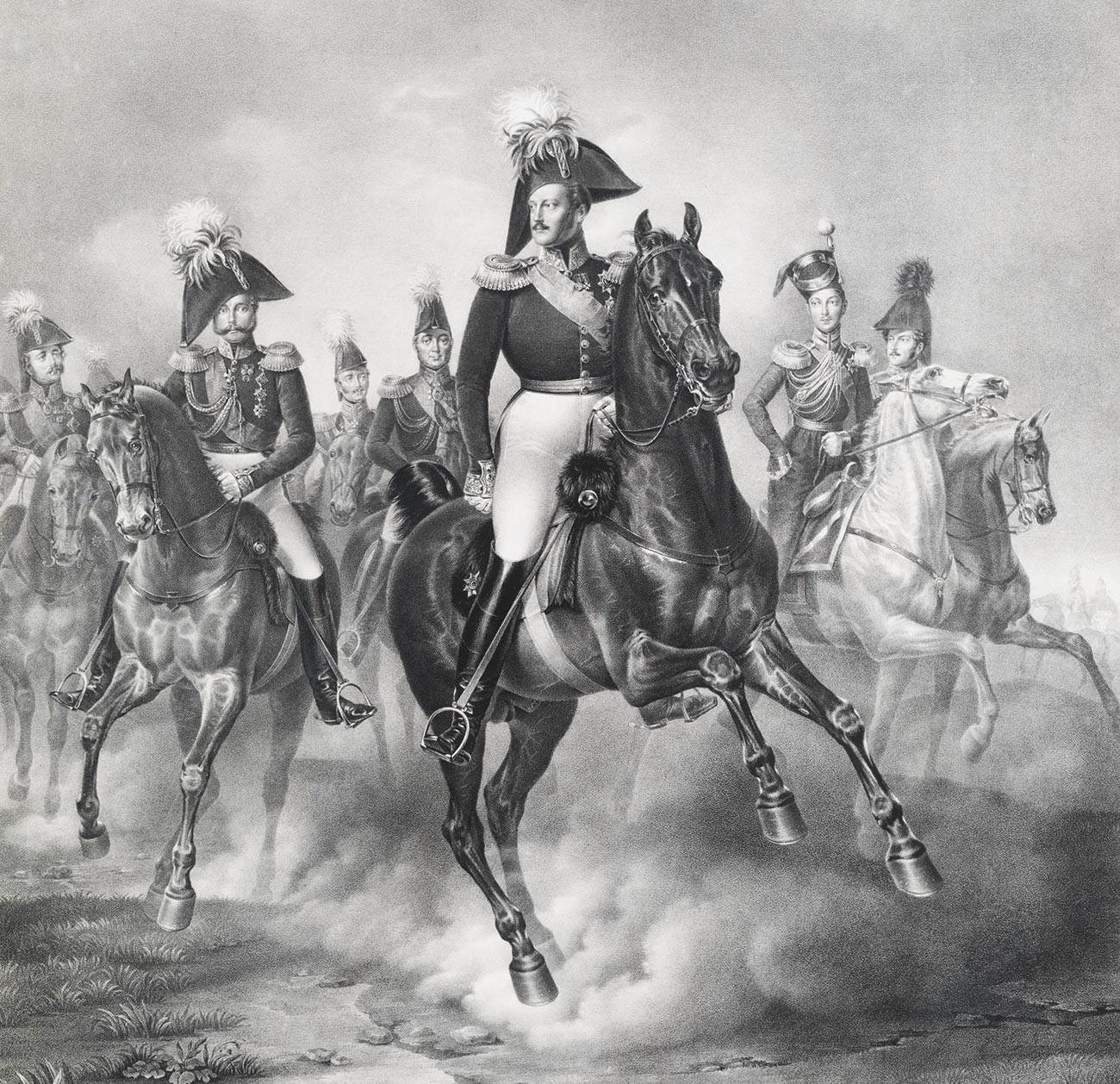 Nikolaj I. s svojo stražo
