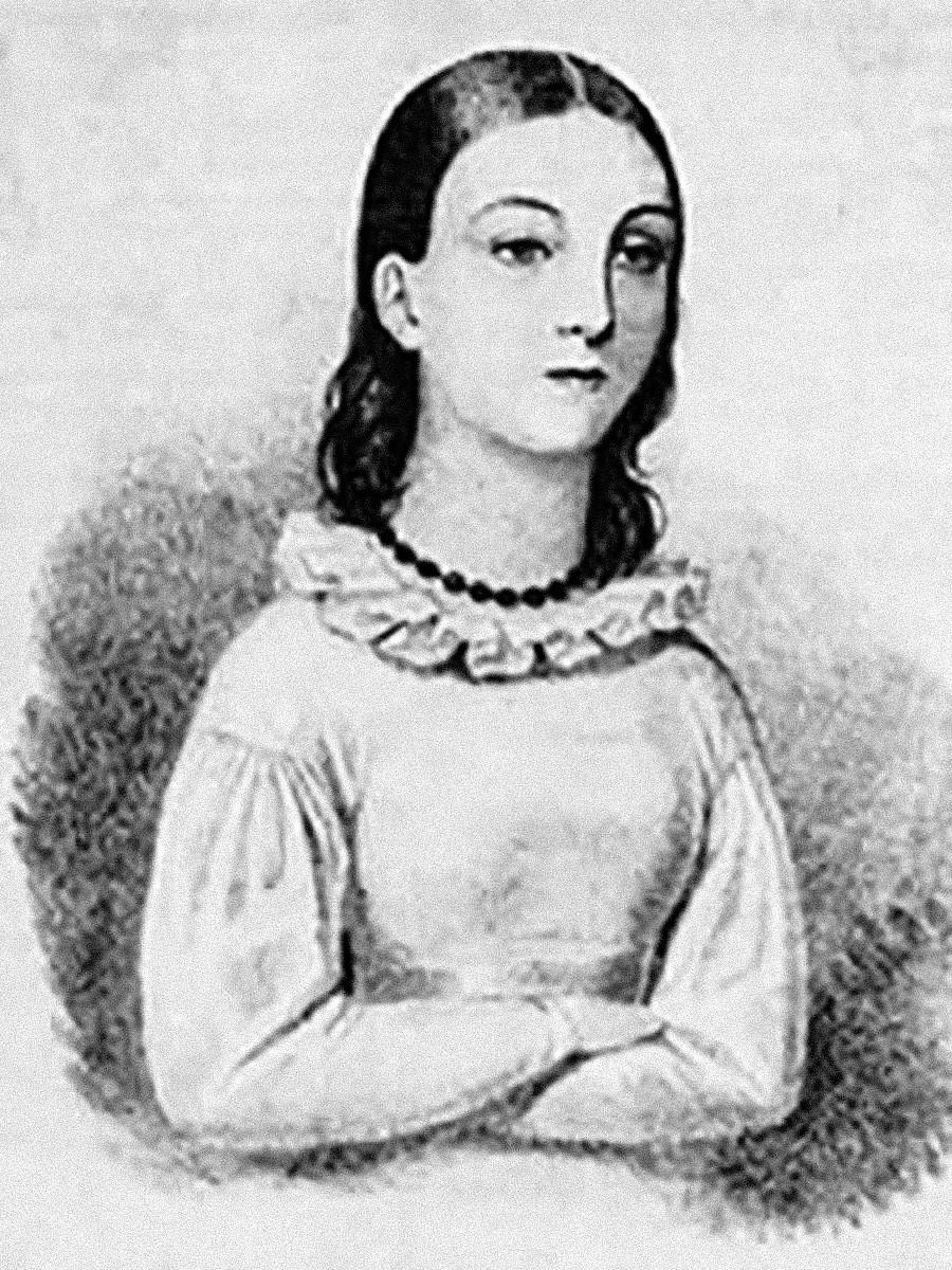 Портрет Надежды Дуровой в возрасте 14 лет. Неизвестный художник