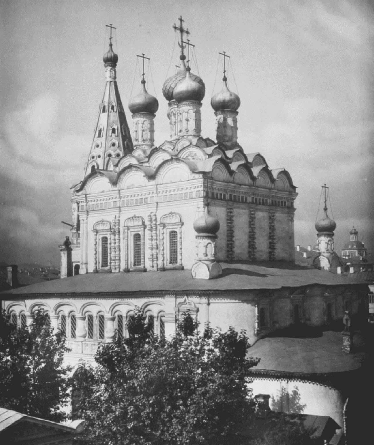 Cerkev sv. Nikolaja v Stolpih. 1883