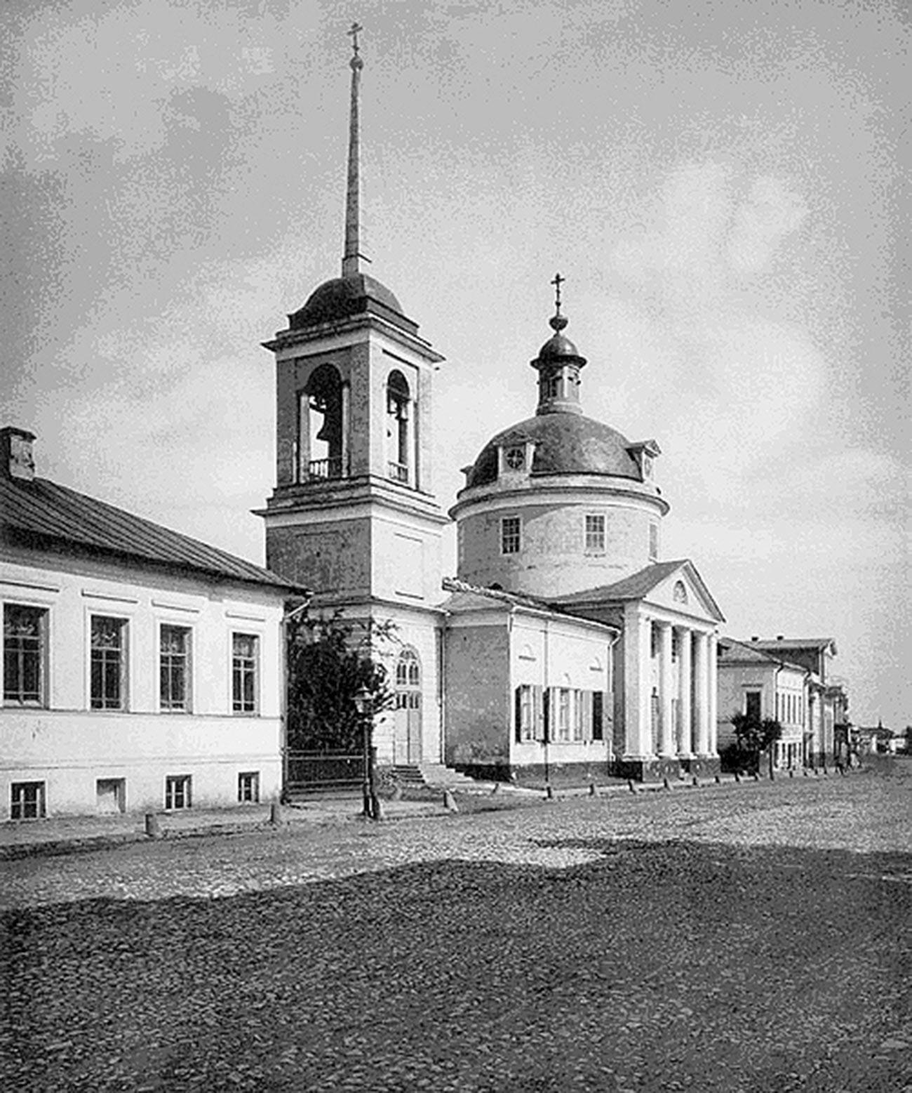 Glavno pročelje cerkve Borisa in Gleba na Povarski, 1882
