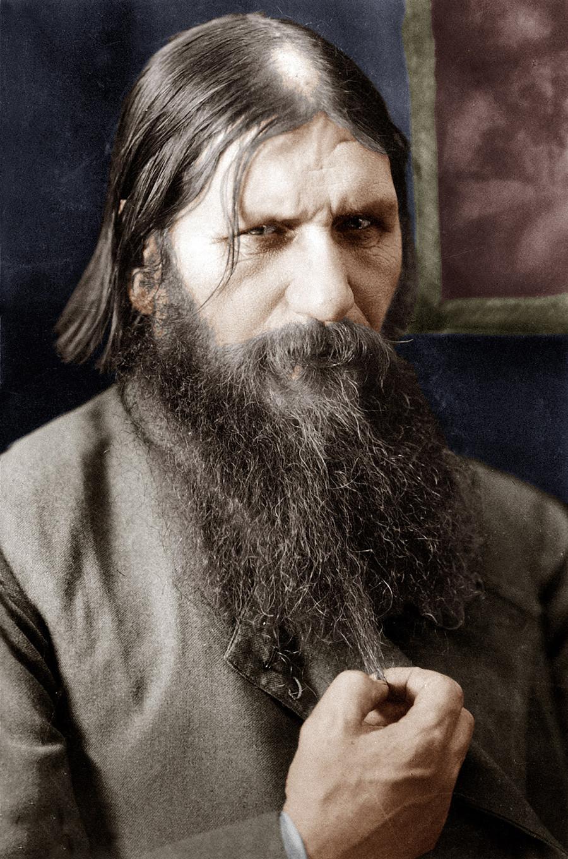 Rasputin (1871-1916) in un documento a colori del 1908