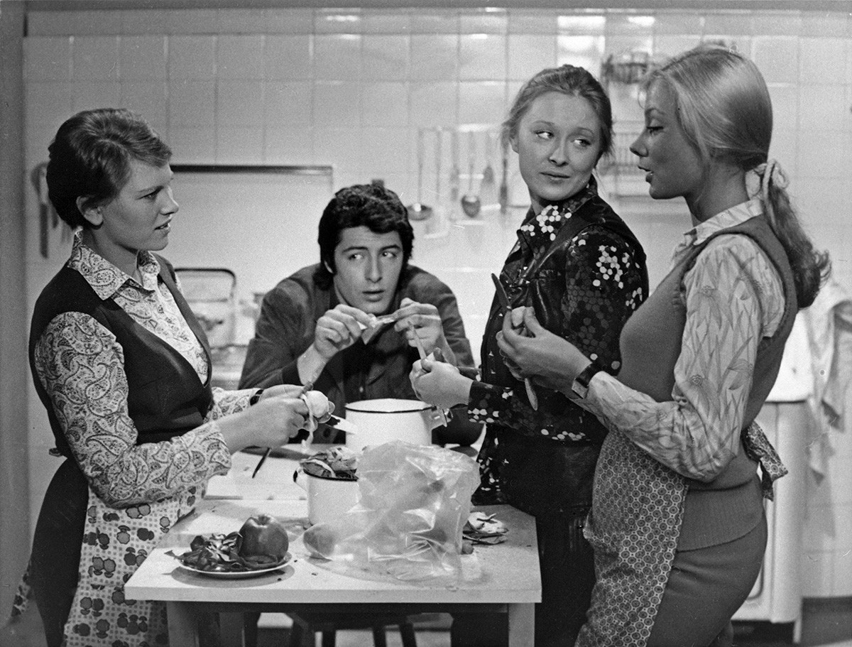 A still from Sergei Gerasimov's drama 'Daughters-Mothers'.