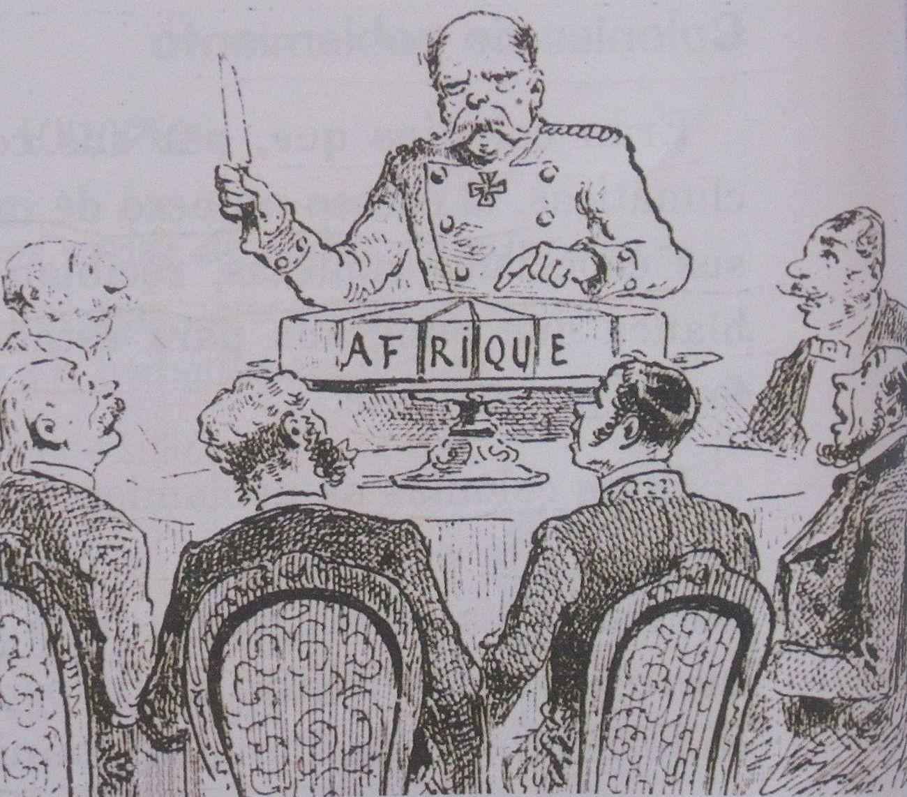 Caricatura sobre conferencia de Berlín, 1885
