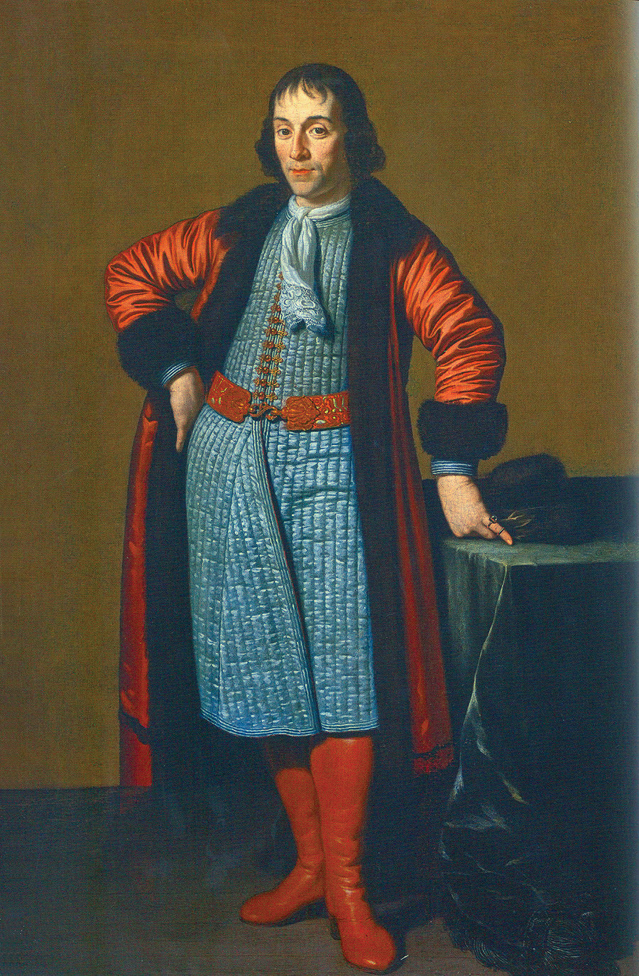 Portrait of Aleksandr Menshikov painted in Holland during Grand Embassy of Peter the Great by Michiel van Musscher.