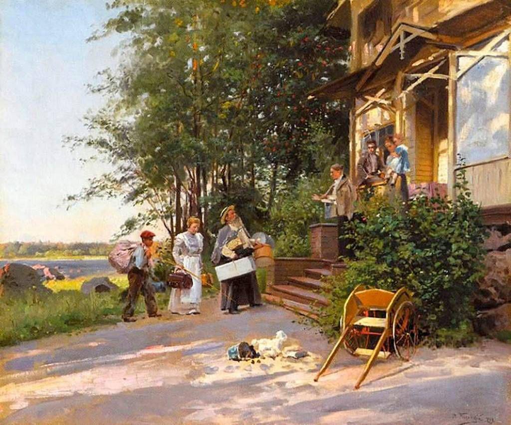 Vladimir Makovski. Arrivée à la datcha, 1899