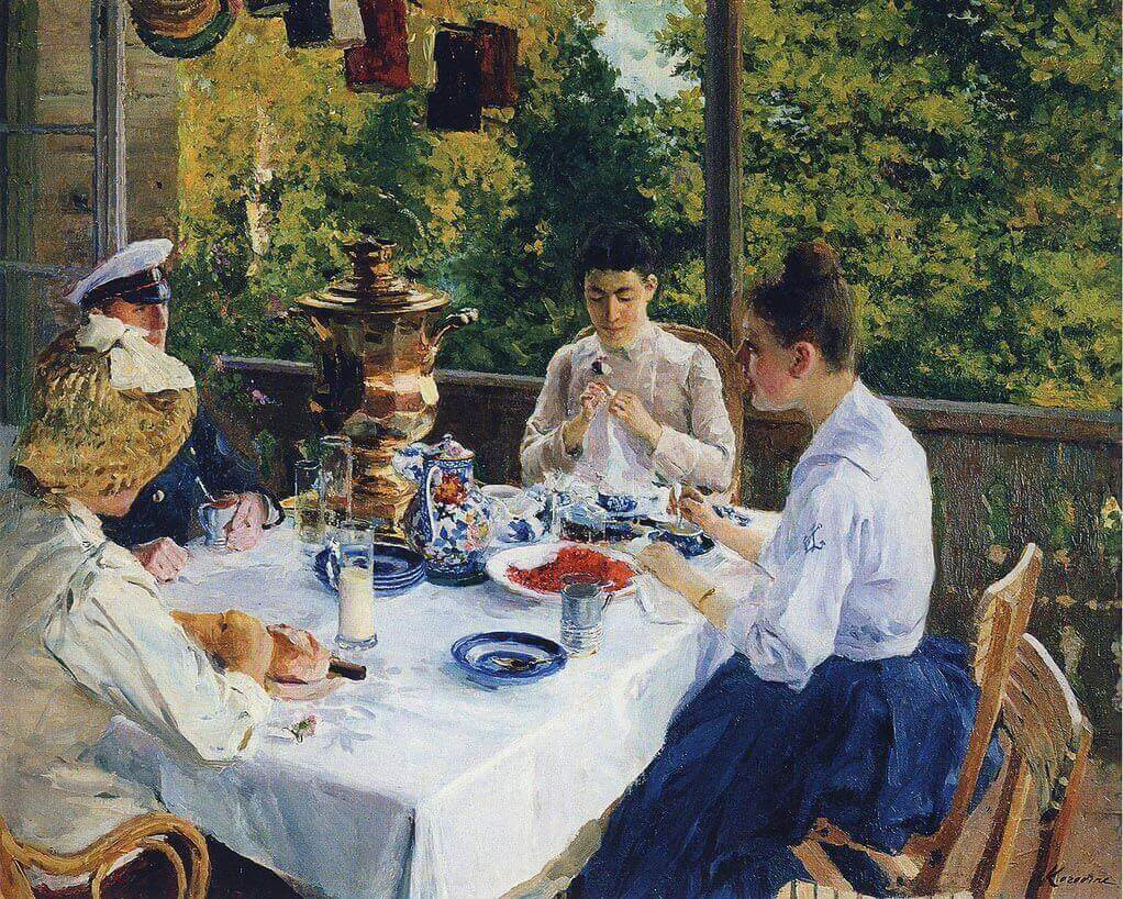 Constantin Korovine. À la table du thé, 1888