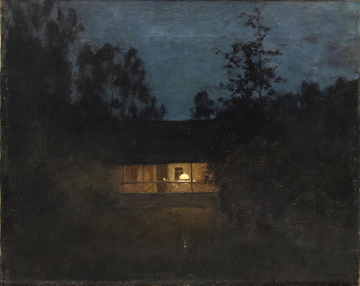Isaac Levitan. À la datcha au crépuscule, les années 1890