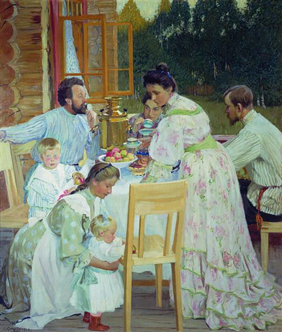 Boris Koustodiev. Sur la terrasse, 1906
